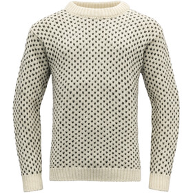 Devold Nordsjø Crew Neck Sweater, beige/negro